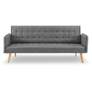 3 Seater Sofa Bed Linen 2840 in Dark Gre