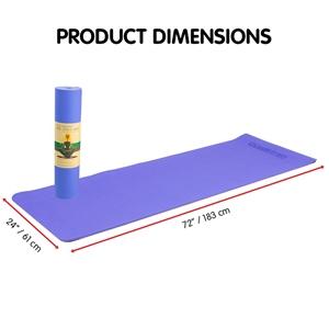 TPE Yoga Mat 183*61*0.8cm Blue