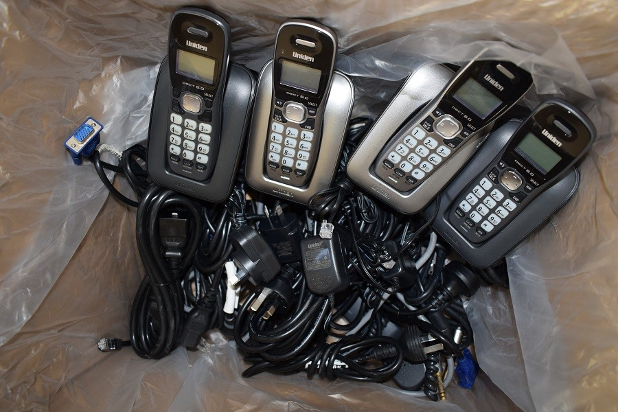 Box of Assorted Phone and Computer/Electronic Accessories