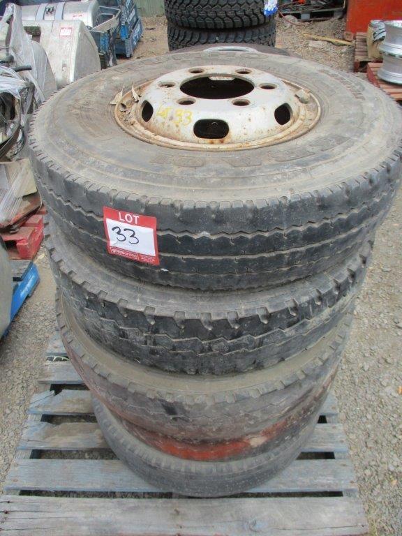 Qty 5 x Truck Wheel Rims