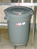 Jantax PVC Bin with Lid on Castor Wheels