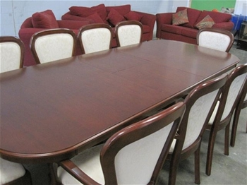 Dining table 10 seater with 10x dining chairs overdue for 10 seater dining table sale