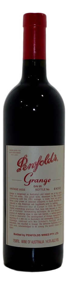 Penfolds Bin 95 Grange 2002 (1x 750mL), SA