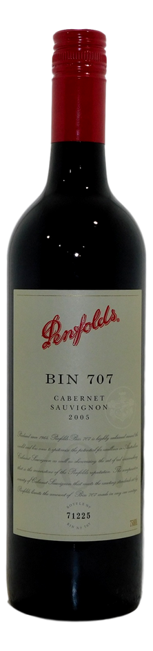 Penfolds Bin 707 Cabernet Sauvignon 2005 (1x 750mL), SA