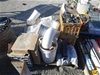 <B>Pallet of Containing PVC Pipe</B> <li>Elbows + Jons Girder Clamps</li>