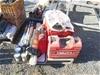 <B>Pallet Containing Assorted empty Hilti tool case PVC + Tripod, CAT Radio