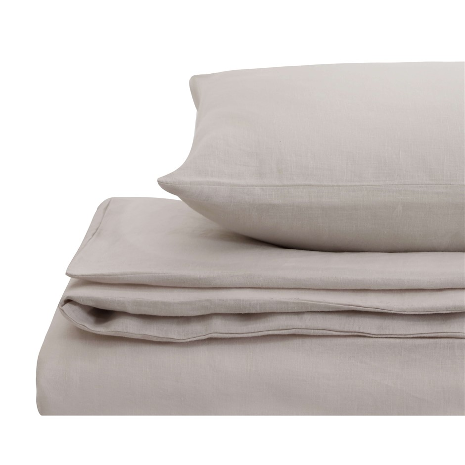 Natural Home Linen Quilt Cover Set King Bed LINEN