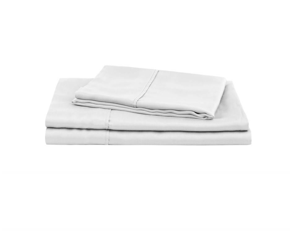 Natural Home Tencel Sheet Set King Single Bed WHITE