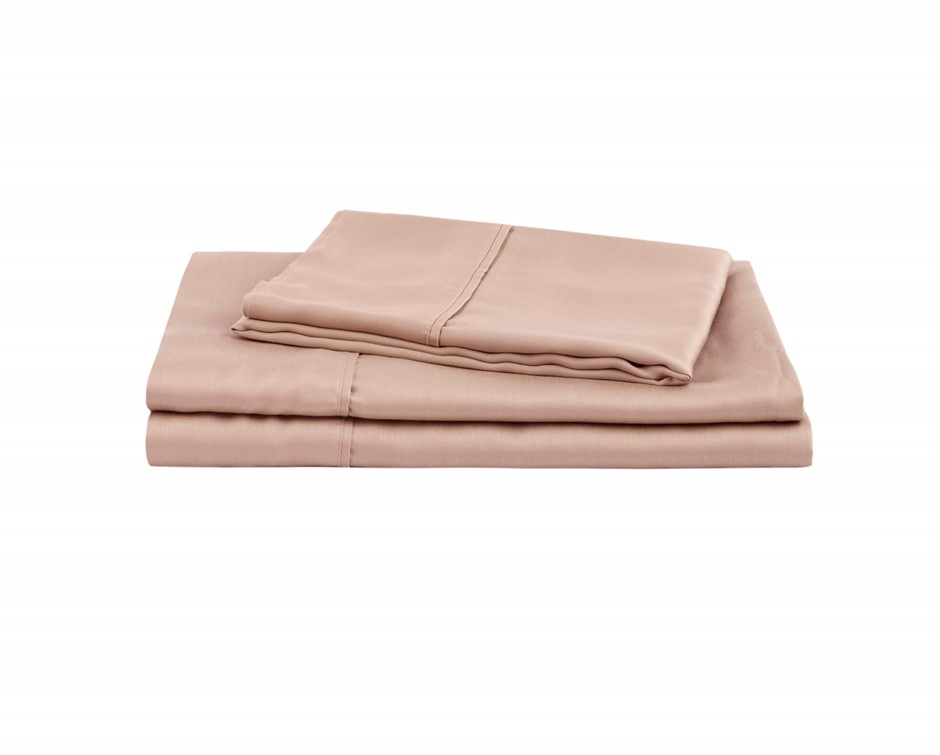 Natural Home Tencel Sheet Set Super King Bed HAZELNUT