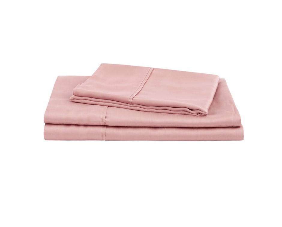 Natural Home Tencel Sheet Set Super King Bed BLUSH PINK