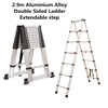 2.9m Aluminium Alloy Double Sided Ladder Extendable step (Pooraka, SA)