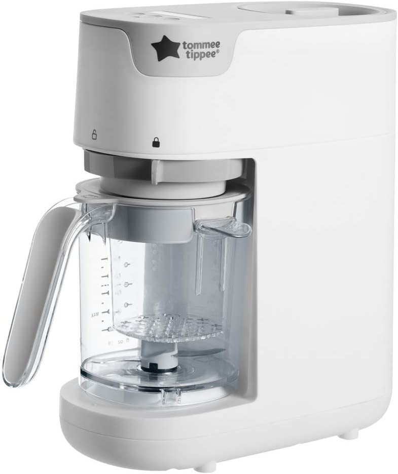 TOMMEE TIPPEE Quick Cook Baby Food Maker Steams and Blends (SN:B07SQDK6GT)