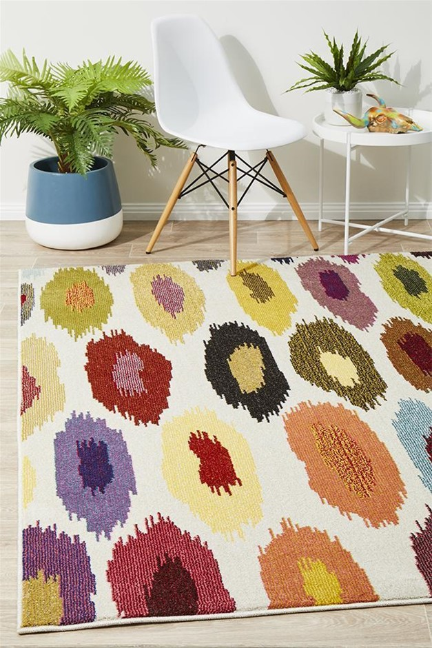 Large Multi Abstract Rug - 290X200cm
