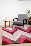 Medium Berry Handmade Super Soft Chevron Rug - 225X155cm