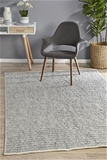 Medium Grey Handmade Silky Finish Scandi Flatwoven Rug - 225X155cm