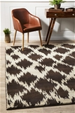 Large Brown Matte Finish Tribal Rug - 290X200cm