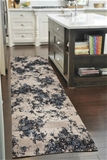 Large Blue 1 Million Point Vintage Look Runner Rug - 400X80cm