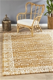 Extra Large Mustard Transitional Jacquard Woven Rug - 400X300cm