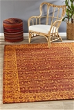 Extra Large Paprika Red Transitional Jacquard Woven Rug - 320X230cm