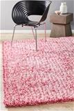 XS Pink Handmade Silky Finish Shag Rug - 80X50cm