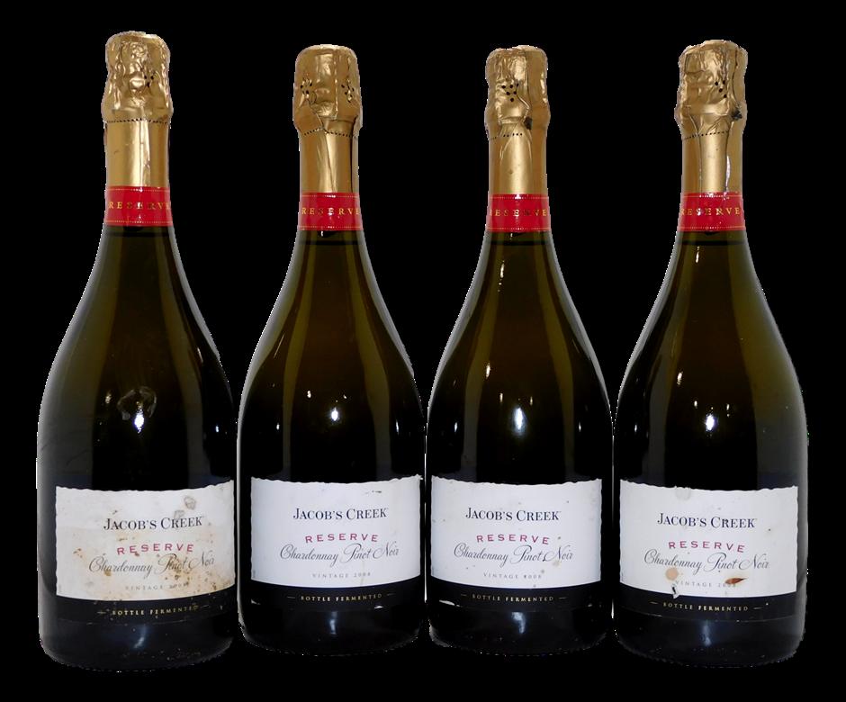 Jacobs Creek Reserve Sparkling Chardonnay Pinot Noir 2008 (4x 750mL), SA