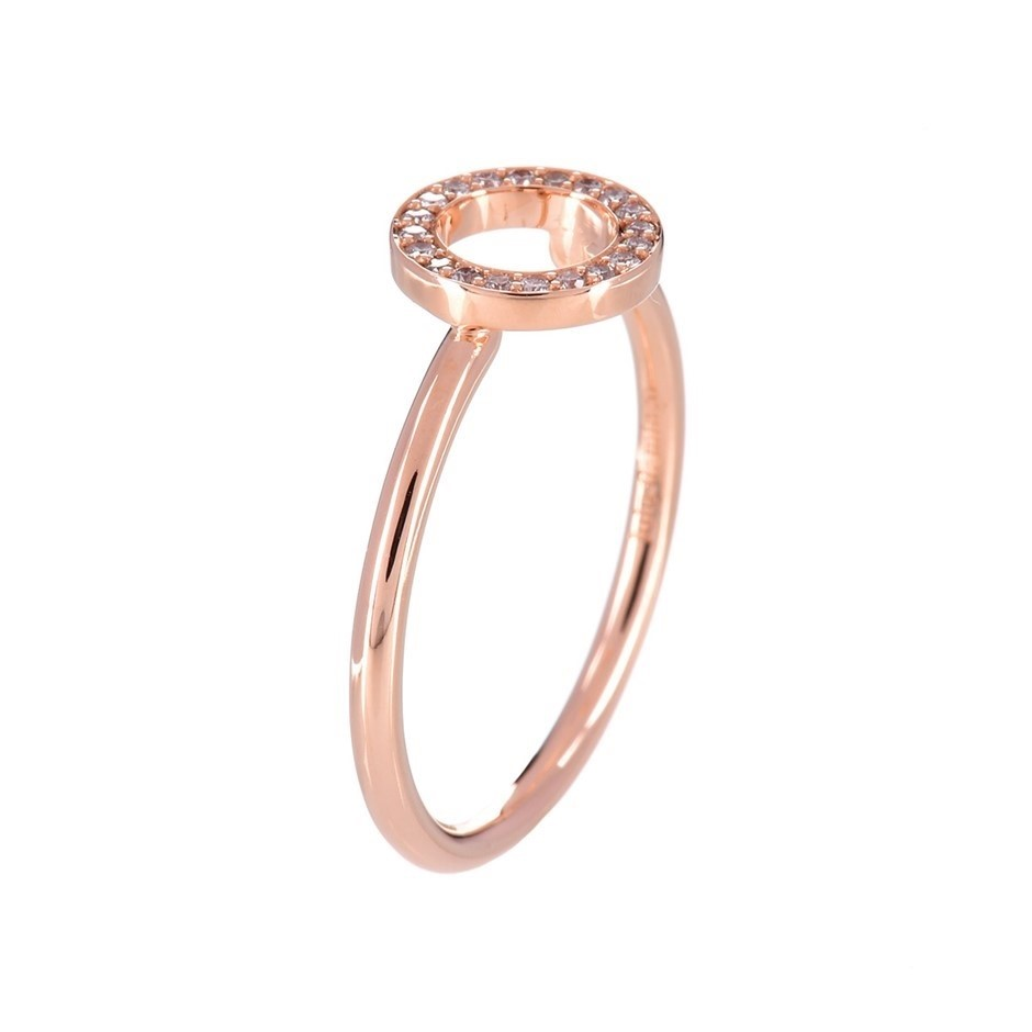 9ct solid rose gold and diamond ring 0.10ct TDW