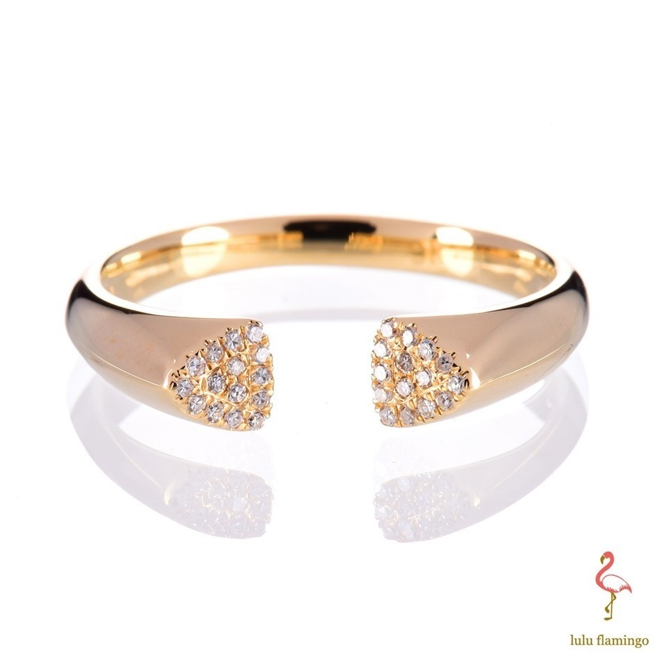 Solid 9ct yellow gold and diamond 0.07ct TDW