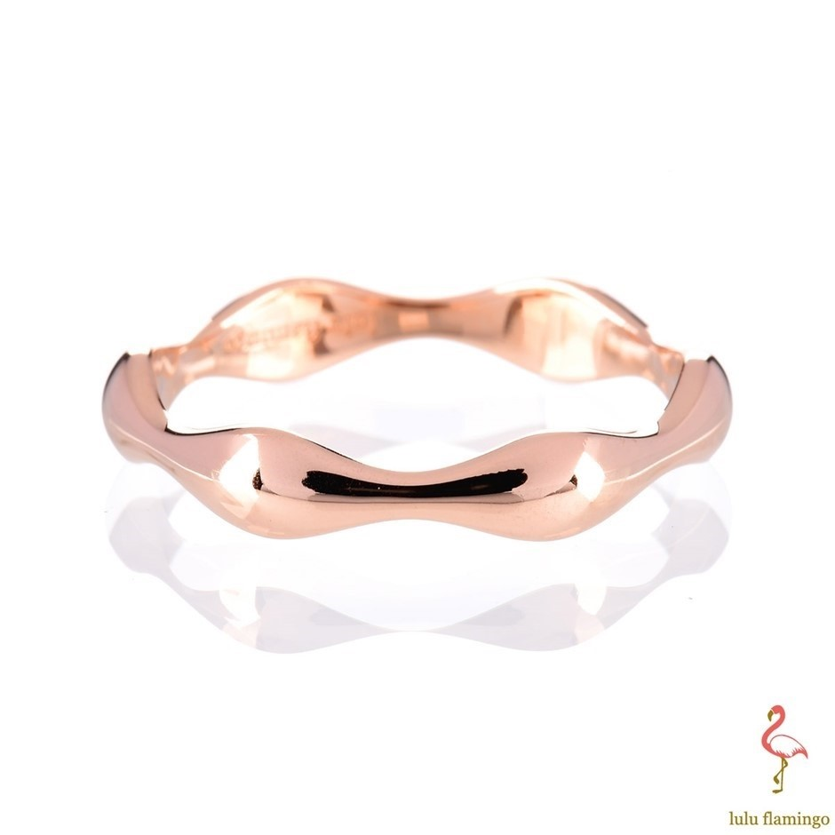 Solid 9ct rose gold ring