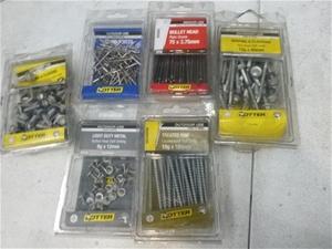 Tub of Assorted Hardware, Screws, Rivets