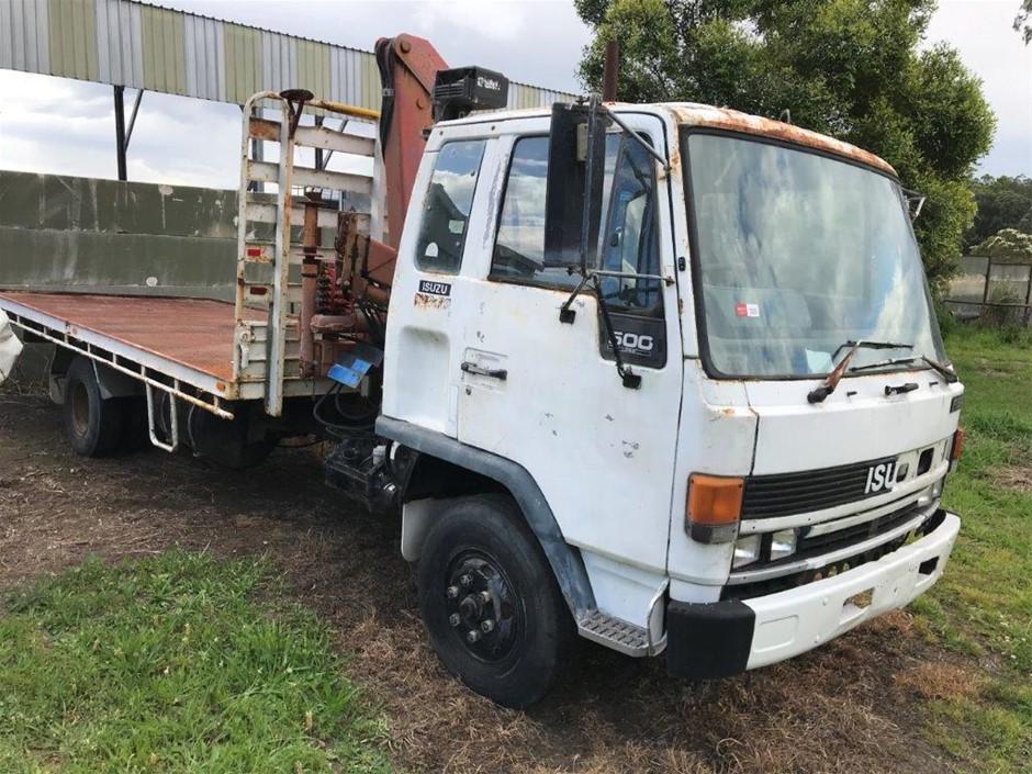 1991 Isuzu FSR500 Crane Truck