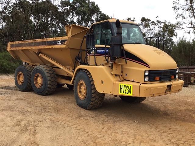 2001 Caterpillar 730 Articulated Dump Truck (See Grays Note)