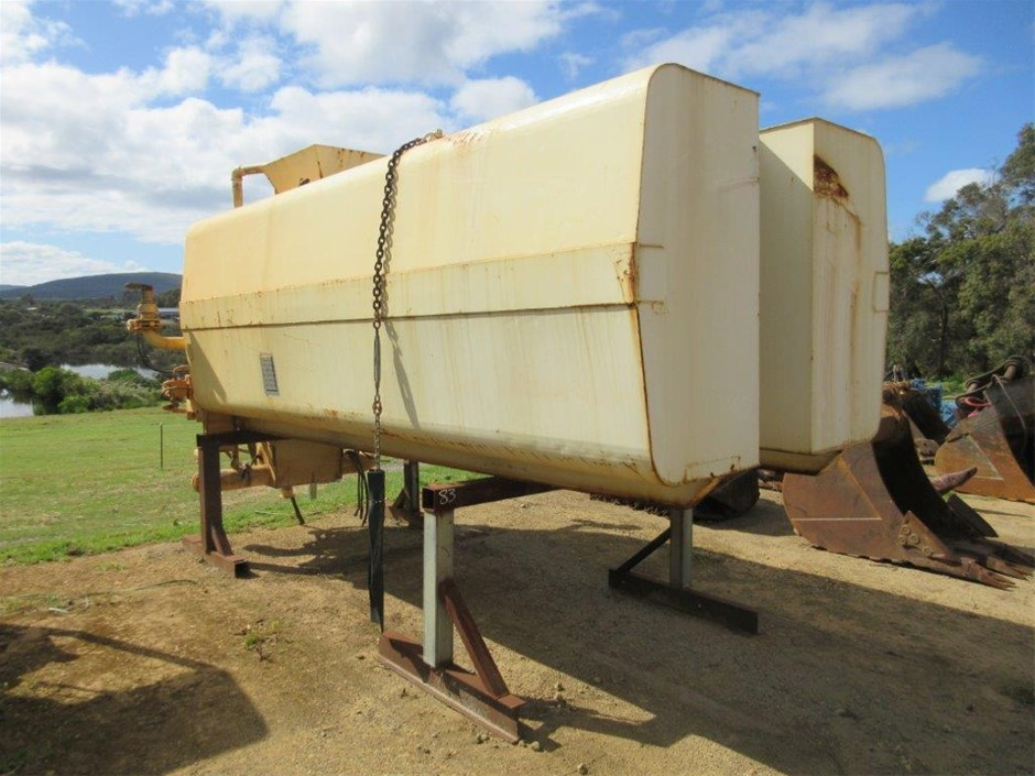 Water Cart Tank on Stands