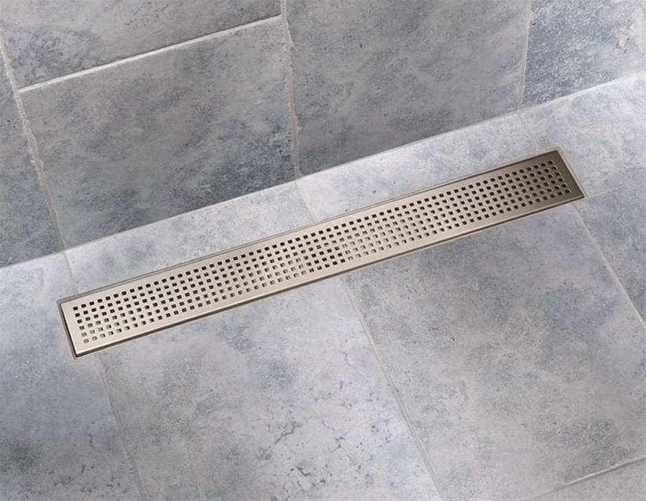 800mm Shower Stainless Steel Grate Drain w/Centre outlet Floor Waste