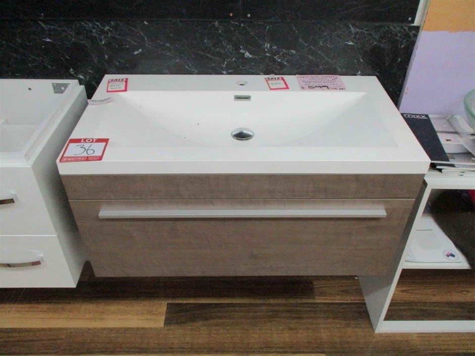 Cleo 900 Wall Hung Vanity Cabinet with Basin