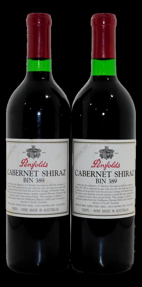 Penfolds Bin 389 Cabernet Shiraz 1992 (2x 750mL)