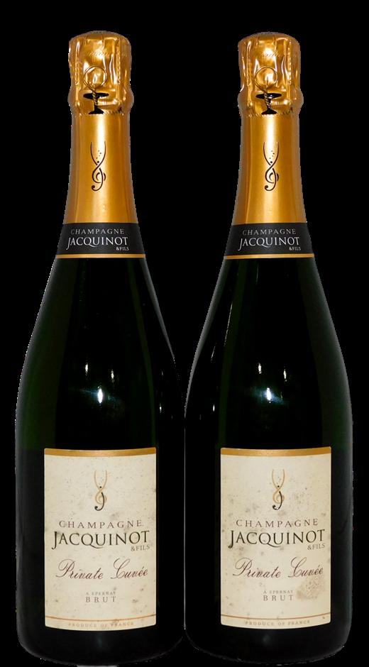 Jacquinot & Fils Private Cuvee Brut Champagne NV (2x 750mL), Reims