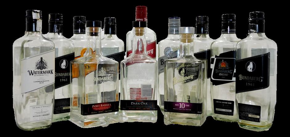 Pack of 12 Empty Bundaberg Rum Collectors Bottles (2x Items)