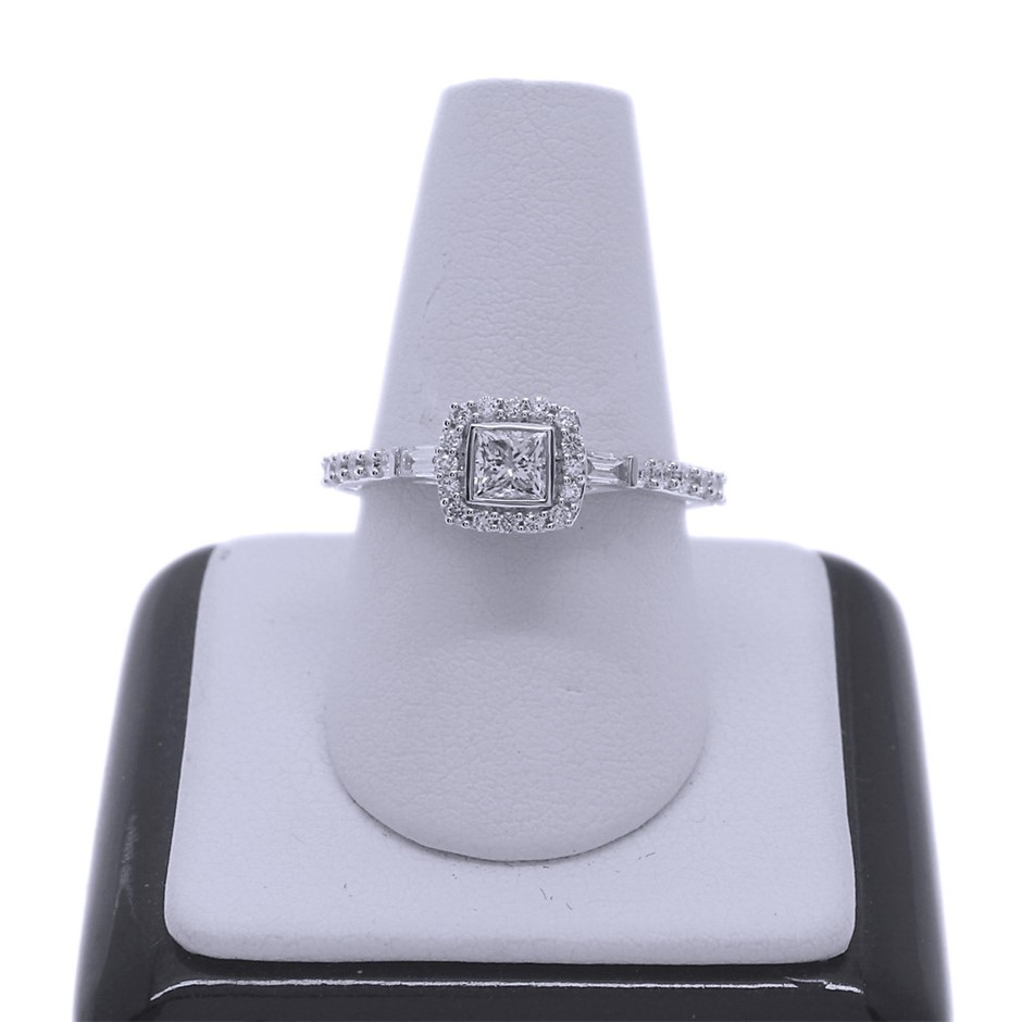 18ct White Gold, 0.73ct Diamond Engagement Ring