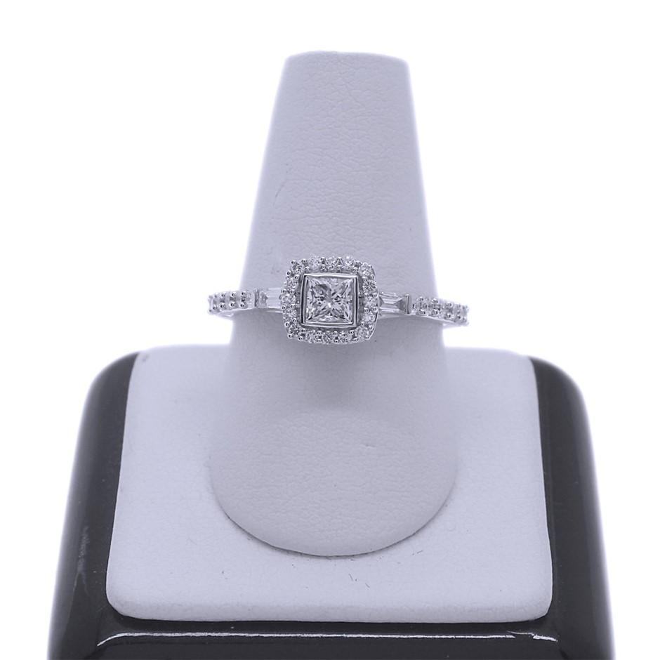 18ct White Gold, 0.73ct Diamond Engagement Ring