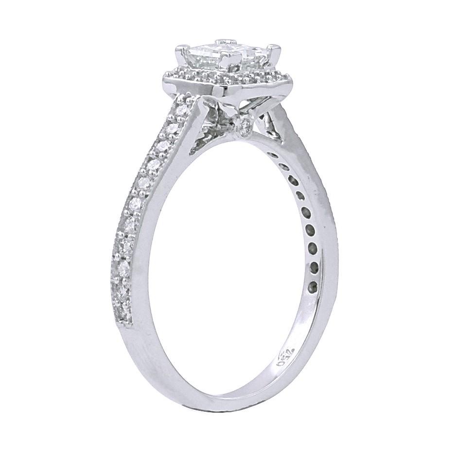 18ct White Gold, 0.84ct Diamond Ring