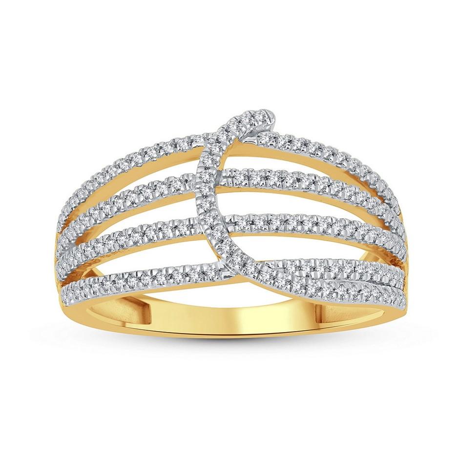 9ct Yellow Gold, 0.29ct Diamond Ring