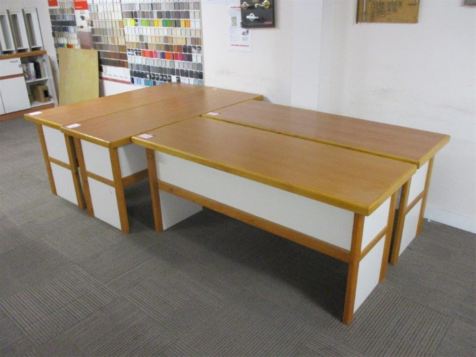 Qty 4 x Timber Desks