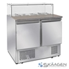 Unused 2 Door Saladette Fridge - ES02-64