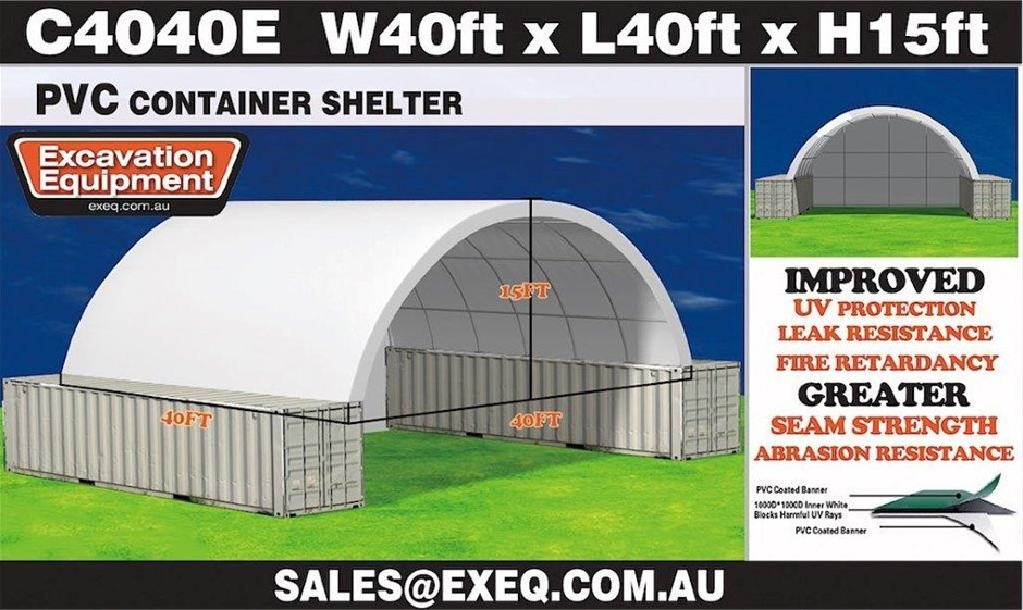 2021 Unused Heavy Duty 40ft Container Shelter with Endwall,