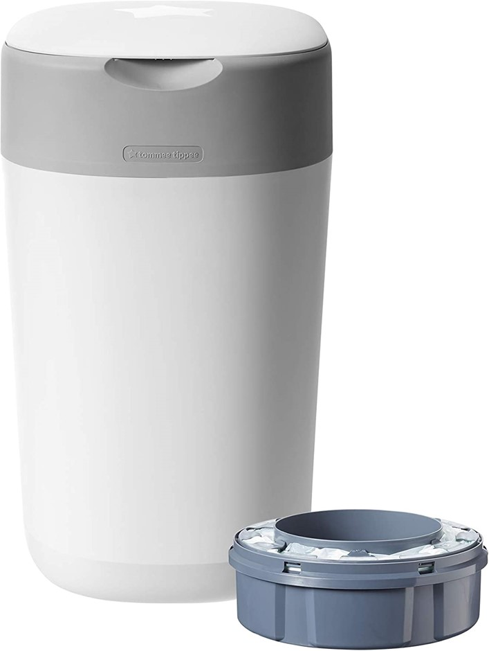 TOMMEE TIPPEE Twist and Click Advanced Nappy Disposal Bin System Powered by