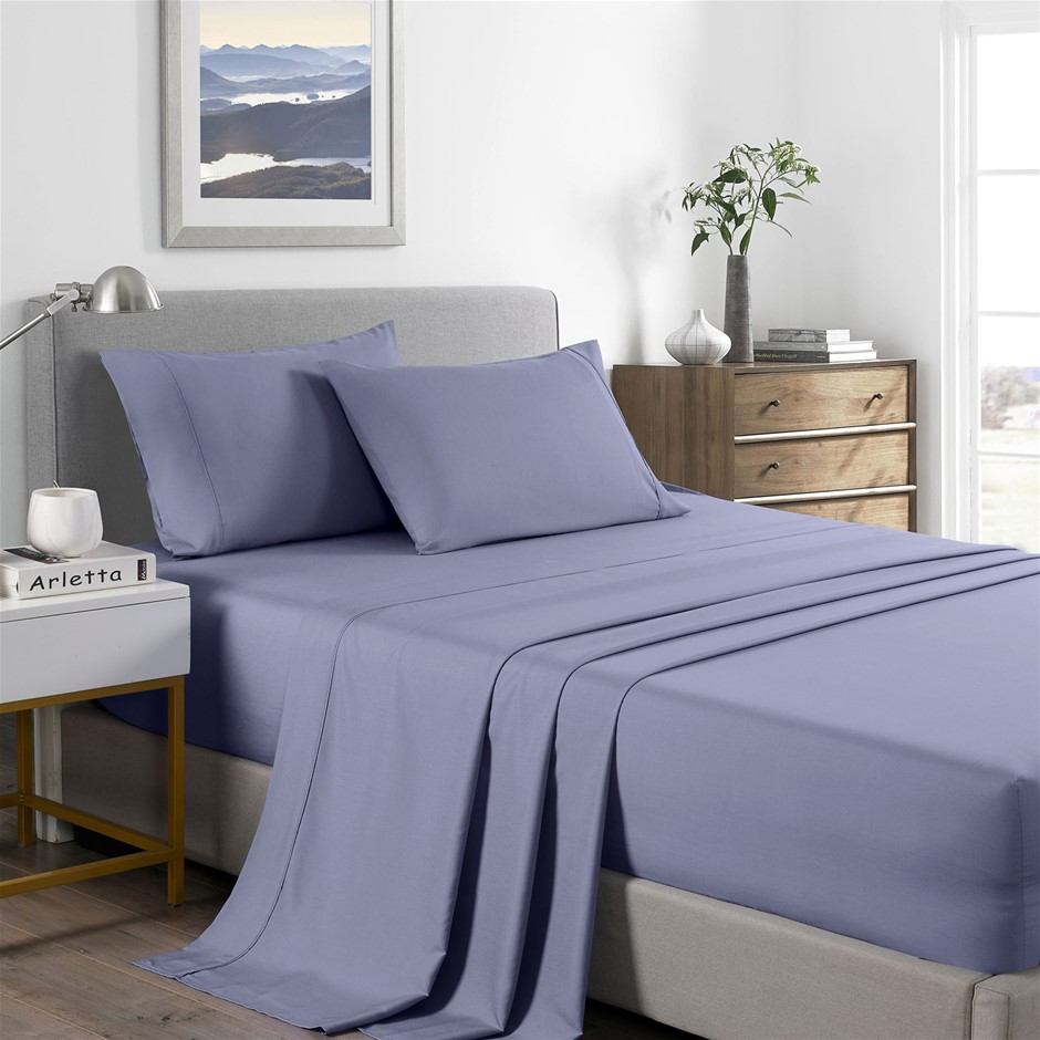 Royal Comfort Bamboo Cooling 2000TC Sheet Set - Double-Lilac Grey