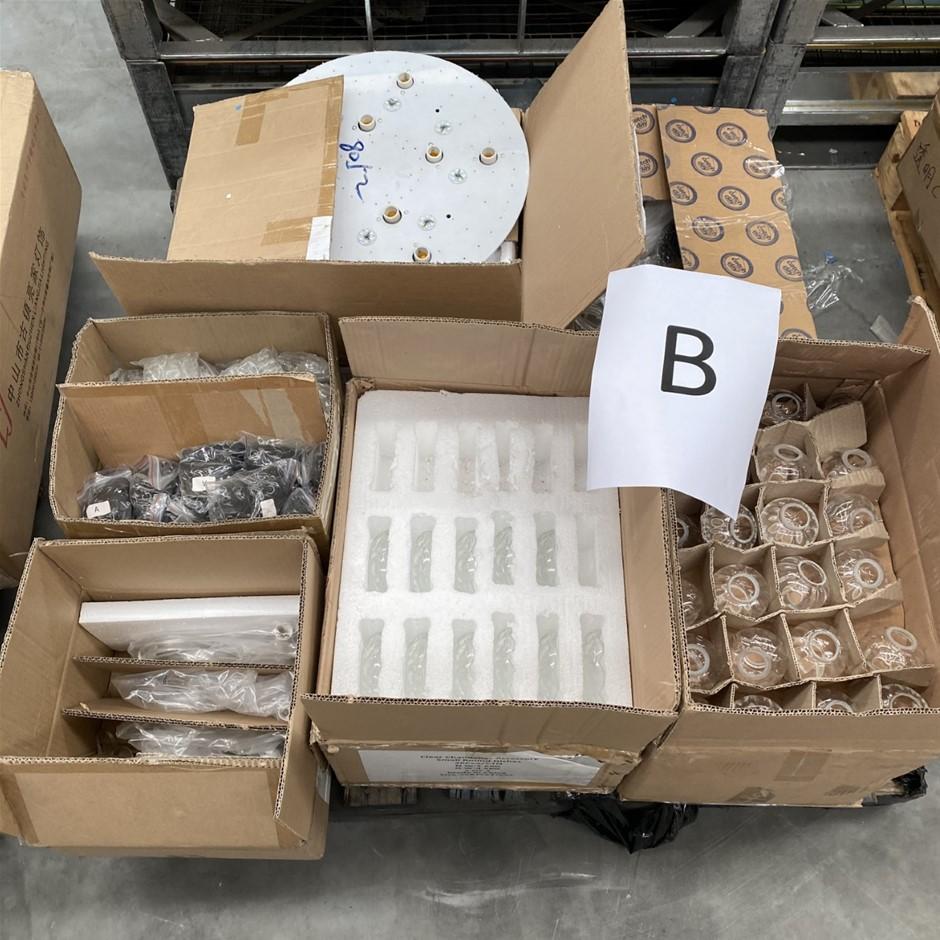 Bulk Pallet of Assorted Chandelier Parts