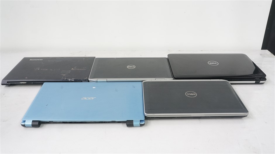 Box of Assorted Brand Untested Laptops