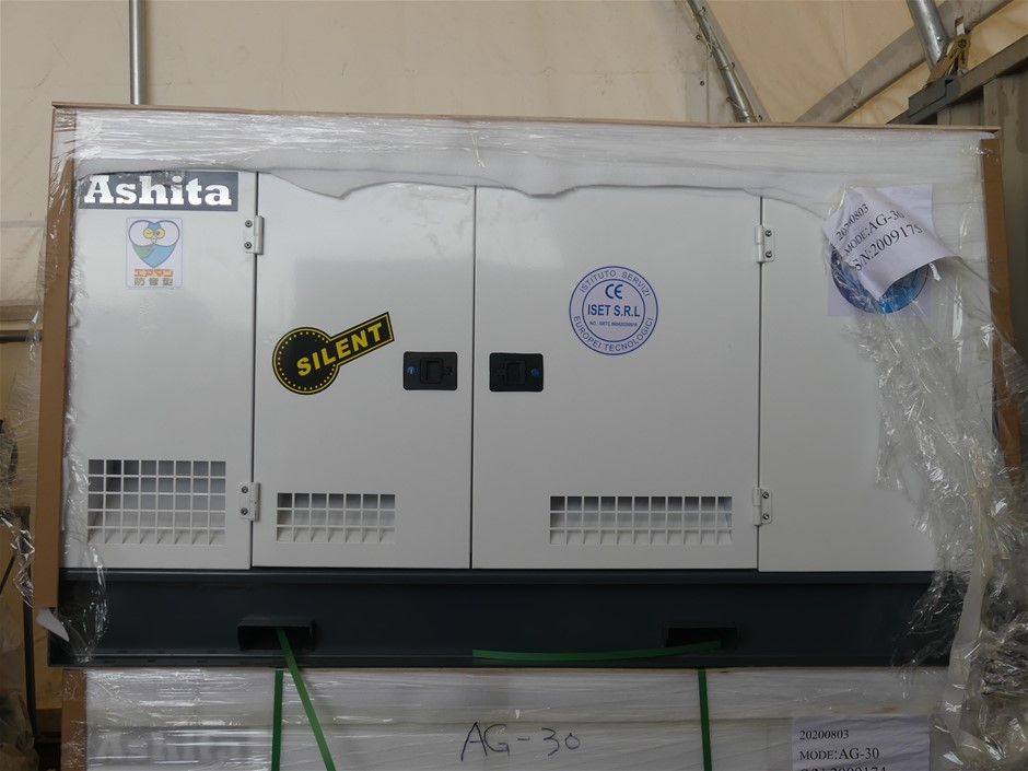 Unused 2020 Ashita AG-30 Skid Mounted 25KvA Diesel Generator