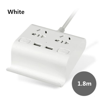 2 way power board with 2 usb outlets and Phone holder